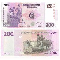 Конго. 200 франков 2007. [UNC]