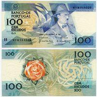 Португалия. 100 эскудо (образца 03.12.1987 года, P179d, подпись 7, aUNC)