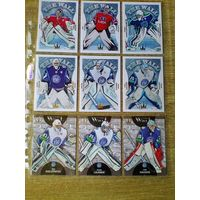Вратари - 15 карточек одним лотом.
