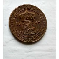 Голландская Ост-Индия 1/2 цента, 1945 3-5-34