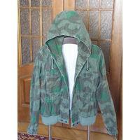 Куртка парка с капюшоном камуфляж осколок splintertarn