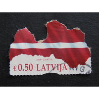 Латвия 2018 г. Флаг.