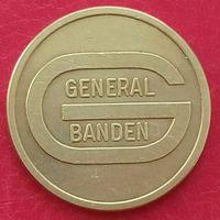 Парковочный жетон General Banden (БЕЛЬГИЯ) -большой размер 22 мм
