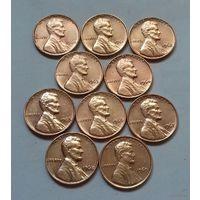 1 цент США, погодовка 1960-х