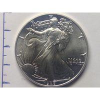 Доллар США 1988г унция серебро