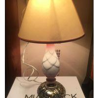 Лампа настольная Нежная латунь фарфор Франция