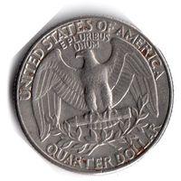 США. 1/4 доллара (1 квотер, 25 центов). 1990 D