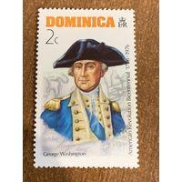 Доминика 1976. Джордж Вашингтон. Марка из серии
