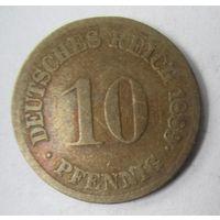 Германия. 10 пфеннигов 1889 F.  2-98