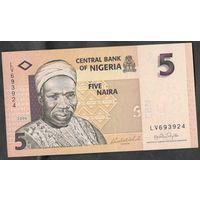 Нигерия 5 найра 2006. Номер 6 цифр. UNC