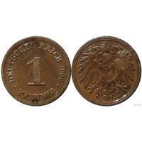 YS: Германия, Рейх, 1 пфенниг 1906D, KM# 10 (2)