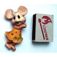 Магнит на холодильник, мышка, керамика