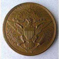 Медаль 100 лет США, большая, бронза, позолота