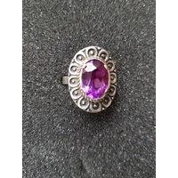 Красивый перстень серебро 875 пробы СССР