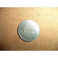 5 крон 1993 Словакия