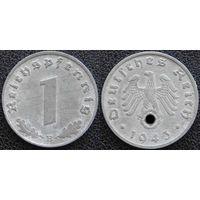 YS: Германия, Третий Рейх, 1 рейхспфенниг 1943B, КМ# 97 (2)
