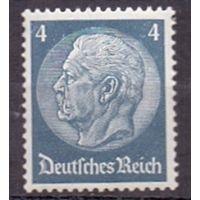 Германия Стандарт Гинденбург 4 pf (**) 1934 г