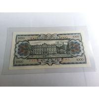 Австрия 1000 шиллингов 1966 год aUNC