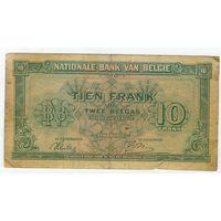 Бельгия, 10 франков 1943 год.