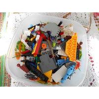 С рубля. Сборный лот из остатков различных конструкторов ЛЕГО.700 грамм.