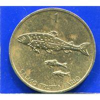 Словения 1 толар 1999