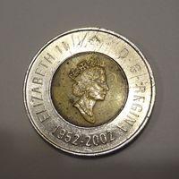 2 доллара 2002 года Канада 50 лет правлению Королевы Елизаветы II