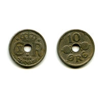 Дания 10 эре 1924 состояние