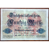 Германия, 50 марок 1914 год, Р49