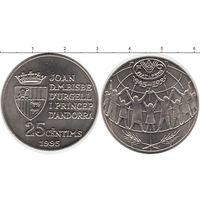 Андорра 25 сантим 1995 UNC