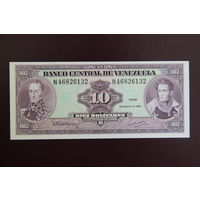 Венесуэла 10 боливаров 1992 UNC
