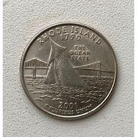 Квотер Rhode Island 2001