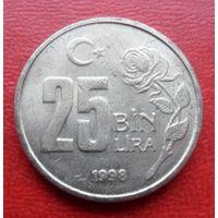 25000 лир 1998 года Турция  - из коллекции