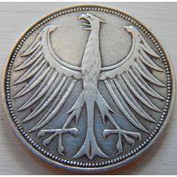 11. Германия 5 марок 1951 год, серебро. G