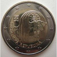 Словакия 2 евро 2018 г. 25 лет Словацкой Республике