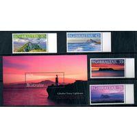 Скалы и маяки Гибралтар 2007 год серия из 4-х марок и 1 блока