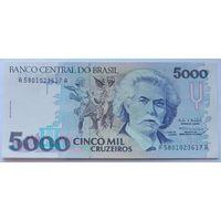 Бразилия 5000 Крузейро, 1993, UNC 815, 817