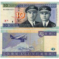 Литва. 10 лит (образца 2007 года, P68) [серия AA]