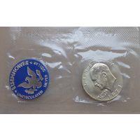США.1 доллар 1973г. Серебро.