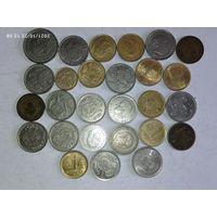 Монеты Испании с рубля.
