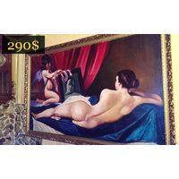 Живопись в спальню в богатой раме, Европа 80-90 гг.