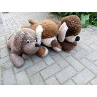 Собаки плюшевые советские большие 3 штуки одним лотом