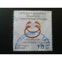Грузия 2013 золотые украшения 4-5 век, марка из блока