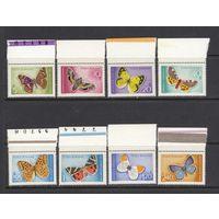 Бабочки Насекомые Фауна 1969 Румыния MNH полная серия 8 м зуб ЛОТ РАСПРОДАЖА