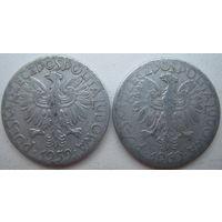 Польша 5 злотых 1959, 1960 гг. Цена за 1 шт. (g)