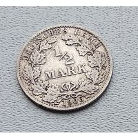 "Германия 1/2 марки, 1906 ""A"" - Берлин 7-10-13"