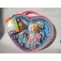 Куклы-пупсы двойняшки в корзинке-No7