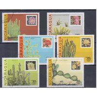[1247] Никарагуа 1987. Флора.Цветы.Кактусы. Гашеная серия.