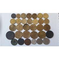 Монеты Советы до 1961 года и три царские монеты (описание внутри).