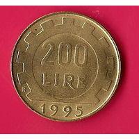 39-04 Италия, 200 лир 1995 г.