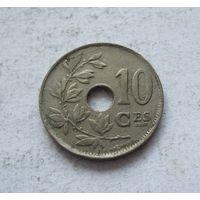 Бельгия 10 сантимов 1923 ROYAUME DE BELGIQUE